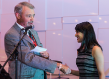 CMC President Doug Potentier with Minister Bardish Chagger
