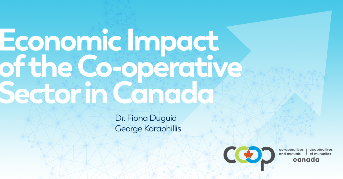 Coverage of the launch of the study on the economic impact of the co-operative sector in Canada