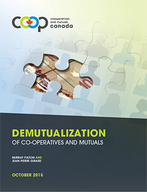 Coverage for the demutualization of cooperatives and mutuals